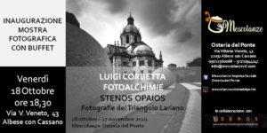"""mostra fotografica corbetta ok 300x150 - 18 ottobre 2019 ore 18.30 inaugurazione mostra fotografica di Luigi Corbetta """"Stenos Opaios"""" fotografie del Triangolo lariano"""
